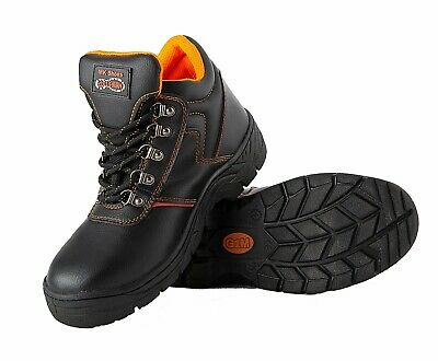 Mens Steel Toe Safety Work Boots Midsole Protective Combat Boots