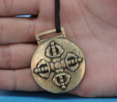 Old Chinese copper hand-carved 12 Chinese zodiac pendant a02