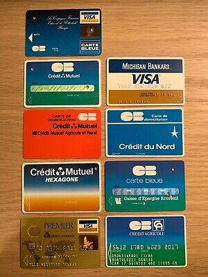 Vintage Rare Bank Card Charge Card Credit Card Carte Bleue Visa Michigan Bankard