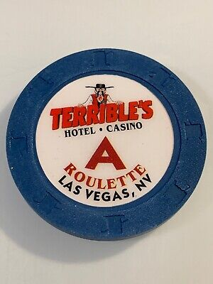 TERRIBLE'S HOTEL ROULETTE Casino Chips Las Vegas Nevada 3.99 Shipping