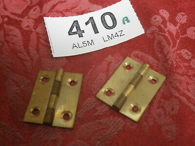 HINGES Clock Case Fixings PAIR cabinet Vintage parts spares wall mantle 410A