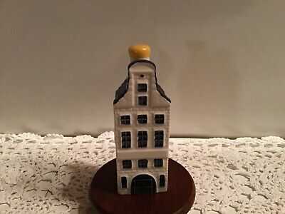 Blue DELFT Miniature Amsterdam Canal HOUSE #42 BOLS SEALED Exclusively for KLM