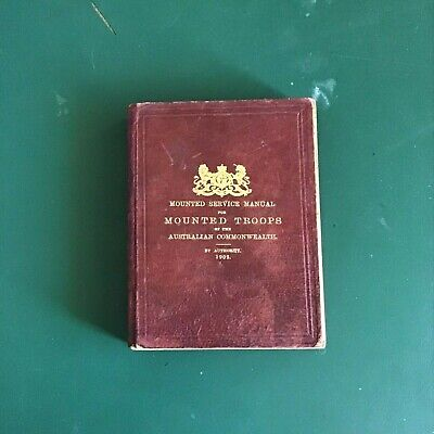 Rare 1902 Australian Light Horse Service Book For Mounted Troops Pre Wwi Rare
