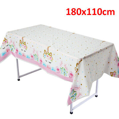 Unicorn Tablecloth Disposable Party Table Cover For Kids Birthday Party Decor