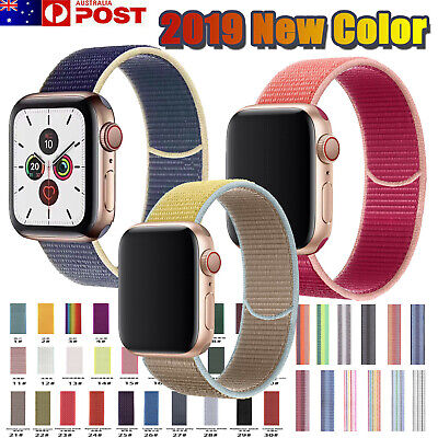 Apple Watch Series 5/4/3/2/1 Band 2019 Nylon Watch Strap Sports Loop iWatch Band
