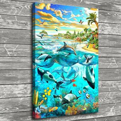 """16""""x24""""Fantasy Ocean World Home Decor HD Canvas Print Picture Wall Art Painting"""