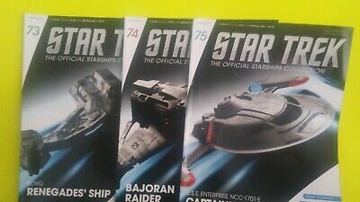 STAR TREK ,The Official Starships * Collection ,(5) Issues 71-75