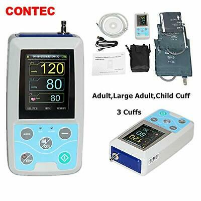 CONTEC Ambulatory Blood Pressure Monitor+Software 24h NIBP Holter 3 Cuffs,FDA CE