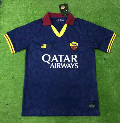 New 2019-2020 Roma second Away soccer Jersey Short Sleeves T shirt Size:S-XXL