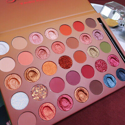 35 Colors/Box Glitter Matte Pearlescent Eye Shadow Pigment Palette Shimmer New