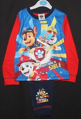 PAW PATROL Pyjamas / Boy's Chase, Marshall & Rubble PJs Sizes 18 months-5 years