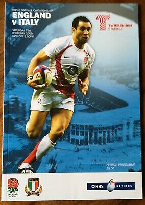 England Rugby Programme: RBS 6 Nations v Italy, 7 Feb 2009