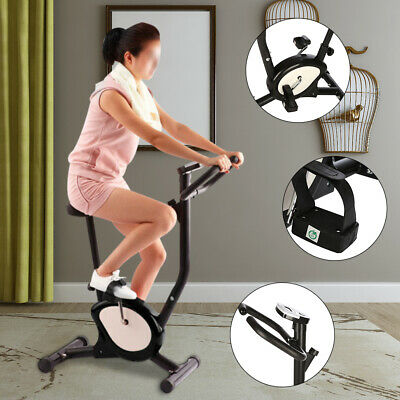 Exercise Bike Adjustable Resistance Home Gym Trainer Cardio Fitness Workout UK