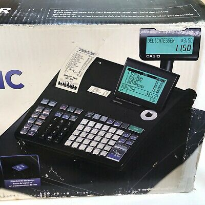 Casio PCR-T2300 Thermal Electronic Cash Register 10 Line LCD 7000 Black
