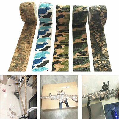 KE_ Outdoor Hunting Camping Sport Camouflage Stealth Self-Adhesive Elastic Tap