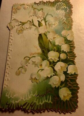 Victorian Blank Floral Embossed Single Sided Card