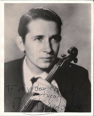 "Arnold Sukonic Violinist ATOGRAPH  SIGNED photograph, 9.8x8""  25x20.7cm Photo"