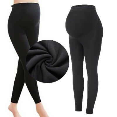 Women Thick Warm Maternity Cotton Leggings Stretch Pregnant Pants Trousers NY