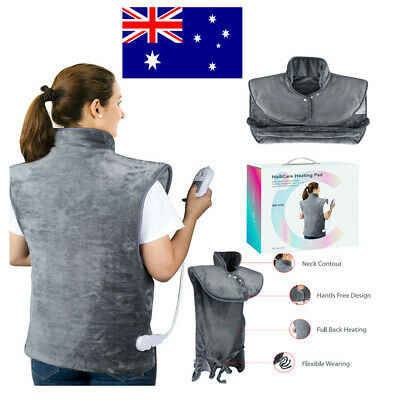Auto Off Electric Heating Pad Heat Warmer Therapy Neck/Shoulder/Back Pain Relief