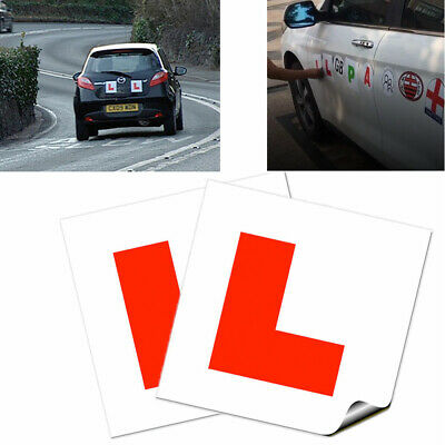 2X L Plate Fully Magnetic Exterior Learner Plates Secure Driver Car Bike