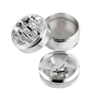 Handle Mill Grinder 4 Piece Herb Tobacco Spice Crusher Aluminum Alloy Storage