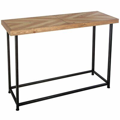 Retro style console industrial hall table for hall Rectangular MDF countertop