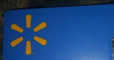 Wal-Mart * Used Collectible Gift Card No Value * Blue background w/ Logo