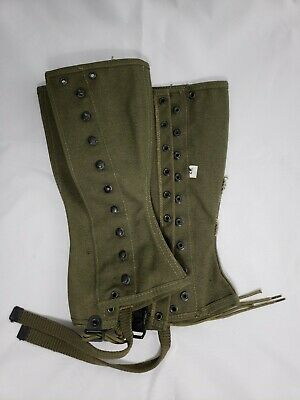 VINTAGE WWII US ARMY LEGGINGS M-1938 DATED 1944 UN-ISSUED Size 2R