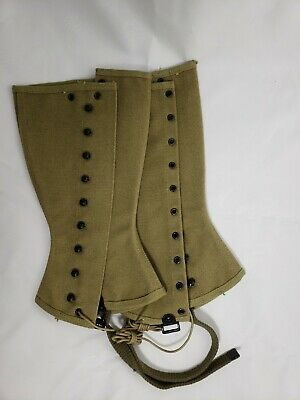 Vintage Wwii Us Army Leggings M-1938 Dated 1943 Size 2R