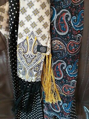 Mens mod scarfs ties and wallet job lot