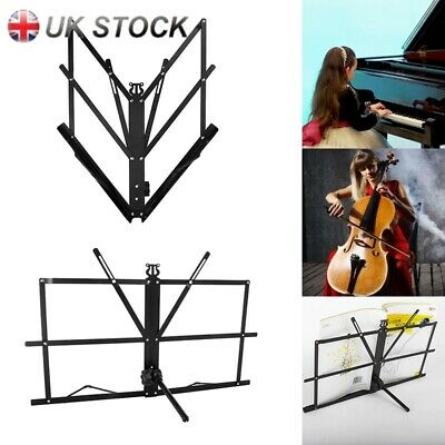 Portable Foldable Desktop Sheet Music Stand & Storage Bag Tabletop Stand New