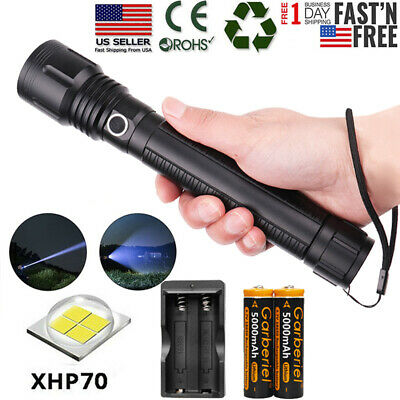 900000Lumens XHP70 Zoomable LED 5Modes 26650 18650 Flashlight Torch Super Bright