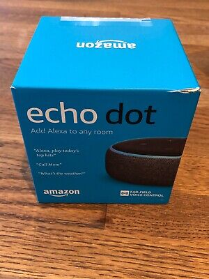 Amazon Echo Dot 3rd Generation Charcoal Fabric - Brand New In Sealed Box!