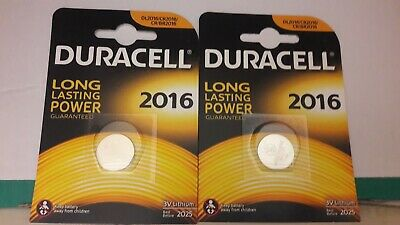 2 x Duracell CR2016 3V Lithium  Cell Battery 2016 DL2016 BR2016 SB-T11 FREEPOSTA