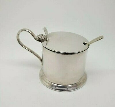 Vintage EPNS Silver Plated Mustard   /  Preserve Pot Stainless Inner