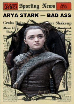 Arya Stark Maisie Williams Game Of Thrones Aceo Art Card ## Buy 5 Get 1 Free #
