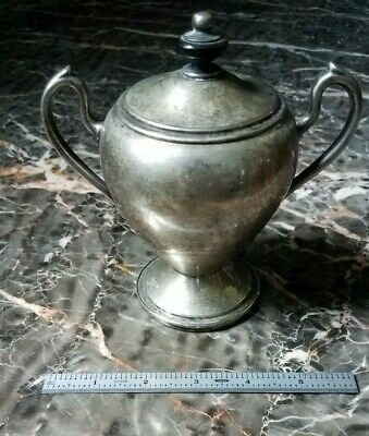 Antique Gotham Silver Plated Lidded Sugar Bowl / Creamer Container Cup