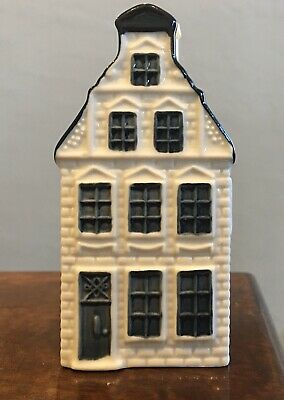 KLM BOLS Delft Blue Minature Canal House # 51 Sealed With Liquid