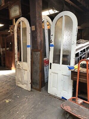 Antique Arched Top Door. Chippy Paint Pantry Or Track Door Two Sizes.