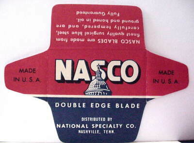 Vintage  NASCO DE  Safety Razor Blade