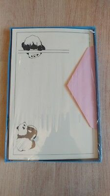 Vintage The Paper Factory Stationery - Panda - 24 Sheets, 12 Envelopes ** NEW **