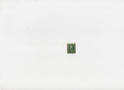 1912  GREEN George Washington One 1 Cent Stamp U.S. Postage Three Sides UNCUT!