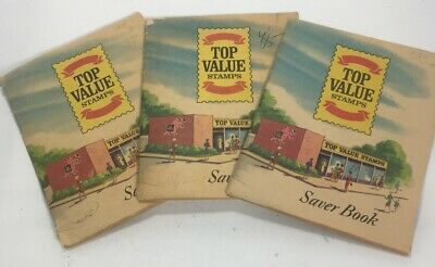 1966 Top Value Stamps Saver Booklets Lot 3 Collectible Retail Memorabilia
