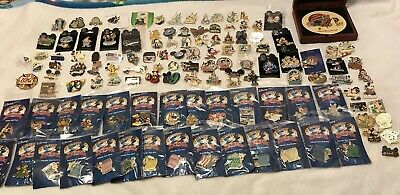 Disney Cast, Limited Editions, Rare, DVC, DCL, Characters, Holidays, 125 Pin Lot
