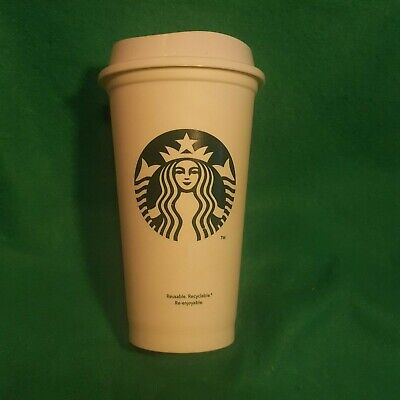 Starbucks Reusable Coffee Tea Cup Tumbler Lid Grande Travel 16 oz Plastic Mug