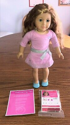 """American Girl Truly Me 18"""" DOLL #33 with Pierced Ears & 6 Pairs of Earrings, EUC"""