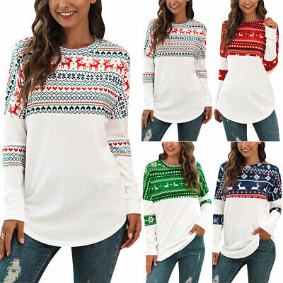 Womens Xmas Christmas Jumper Sweater Ladies Sweatshirt Novelty Festive Pullover