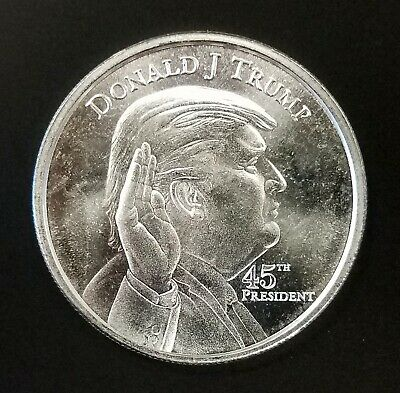 Donald Trump 45th President, One Troy Oz. 0.999 Fine Silver Round! NO RESERVE!