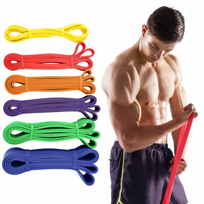 Strong Resistance Bands Loop Exercise Sport Physio Fitness Home Gym Yoga Latex