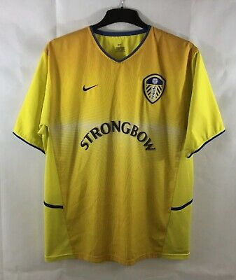 Leeds United Away Football Shirt 2002/04 Adults XL Nike A741